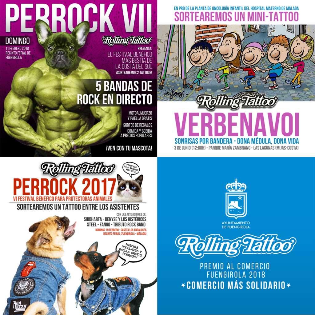 Campañas y eventos de promoción de la labor solidaria de Rolling Tattoo
