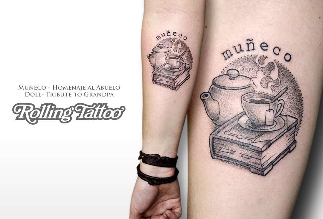 Tatuaje en homenaje a su abuelo